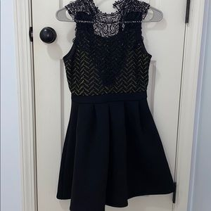 kids black and gold party dress